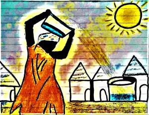 acqua (disegno di Ibrahim Ballo)